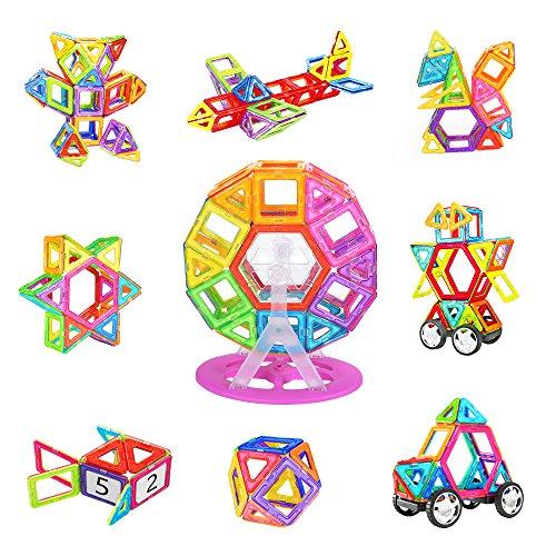 NextX Magnetische Bausteine Magnetspiel Set Pädagogische Bauklötze Spielzeug Konstruktionsspielzeug Geschenk für Kinder (100-Stück)