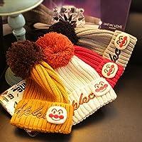 Sombrero de Niño, VSOAIR Sombrero del Bebé del Invierno de la Navidad que hace Punto para los Niños 1-6 Años (Amarillo)