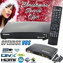 GENUINE OPENBOX V8S (Newer Version of V5S) FULL HD 1080P Digital Freesat PVR TV Satellite Receiver Box WEB TV UK stock ✮SALE ON✮ Go grab it! by Bositools