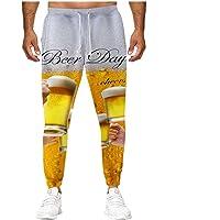 ODJOY-Fan Pantaloni Uomo Slim Fit,Pantaloni Casual da Birra 3D Allentati Pantaloni Uomo Elegante con Tasche Laterali…