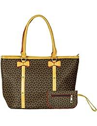 Bazaar Pirates Women Tote Bag, Hand Bag For Women, Stylish Printed Tote Bag (Brown)