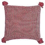 GreenGate COTCUS50KWDOT1002 Dot Kissen Knit red 50 x 50 cm (1 Stück)