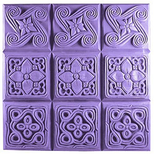 CybrTrayd Brocades Tapestry Design Soap Mold (MW 18) - Milky Way. Melt & Pour, Cold Process w/Exclusive Copyrighted Full Color Soap Molding Instructions in a Sealed Poly Bag