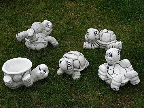 Steinfigur Nr.556 Fußball Schildkröte 11 Fussballspieler ca. 8 kg - 9