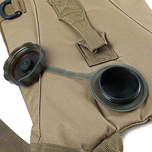 3L leichter Wasser Kantine Beutel Rucksack mit Trinkschlauch für Jagd Klettern Laufen und Wandern KHAKI