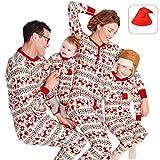 d2307deba55cf Pyjamas de Noel Famille Garçon Fille du Nouveau-né Bébé Pyjamas à Deux  Pièces Set