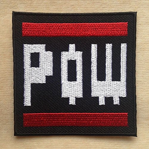 Pow Patch (7,6 cm) Super Mario Brothers bestickt Eisen/Nähen auf Badge Power Up Aufnäher Souvenir DIY Kostüm World Kart SNES (Mario Brothers Goomba Kostüm)