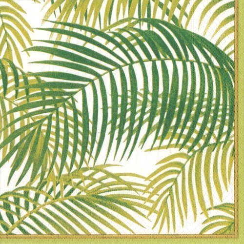 Servietten Papier Luau Party Beach Party Nautical Party, Tropische Thema unter die Handinnenflächen tropisch Pack of 40 grün