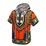 Orang Camicia Dashiki Africana Unisex Felpa con Cappuccio Tradizionale Indiana Tradizionale Africana, Taglia Unica
