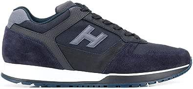 Hogan Luxury Fashion Uomo HXM3210Y851N8L647F Blu Tessuto Sneakers | Stagione Permanente