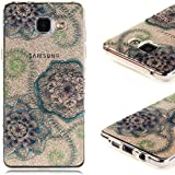 Coque Samsung A5 (2016) , Galaxy A5 (2016) Etui TPU , CaseLover Henna Mandala Soleil Dentelle Tribal Vintage Motif Mode Etui Coque TPU Slim pour Samsung Galaxy A5 (2016) SM - A510F (5.2 pouces) Mode Flexible Souple Soft Case Couverture Housse Protection Anti rayures Mince Transparent Silicone Cover - Mandala