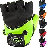 C.P. Sports Guanti da fitness guanti da Iron Comfort Guanti da allenamento per uomo e donna, arancione fluo, L/9 = 20-22cm