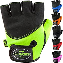 C.P.Sports Gym-Fitnesshandschuh M/8 = 18-20 cm rot Trainings Handschuhe, Bodybuildinghandschuh
