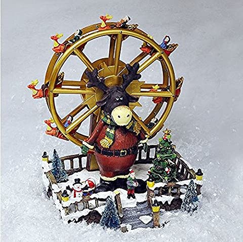 Animated Christmas Ferris Wheel. SFX. LEDs. Reindeer. Musical. Low Voltage. Xmas by (Animated Christmas Decor)