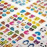 OKCS 3D Puffy Sticker - 16 Stickerbögen mit diversen Motiven Organisationshilfe für Lehrer, Motivationsaufkleber, Stickeralbum, Basteln, verschönern von Geschenken