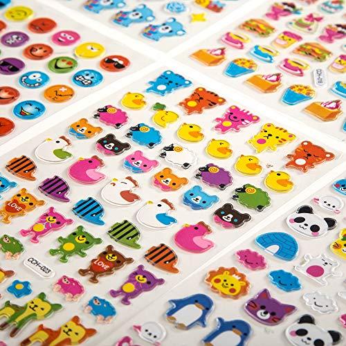 VAPIAO [Sticker [Aufkleber] [800 Stück] Smileys, Tiere, Fahrzeuge, Autos für Kinder, Babys, Karten, Laptop, Bücher, Joypads zum Tauschen und Sammeln
