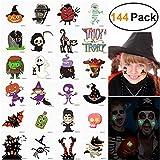 Unomor Halloween Temporäre Tattoo Aufkleber Für Kinder Party Geburtstage 144 Stück (Leuchten im Dunkeln)