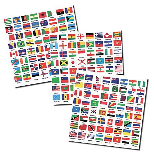 Aufkleber mit Staatsflaggen