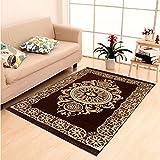 """Home Elite Ethnic Velvet Touch Abstract Chenille Carpet - 55""""x80"""", Multicolour"""