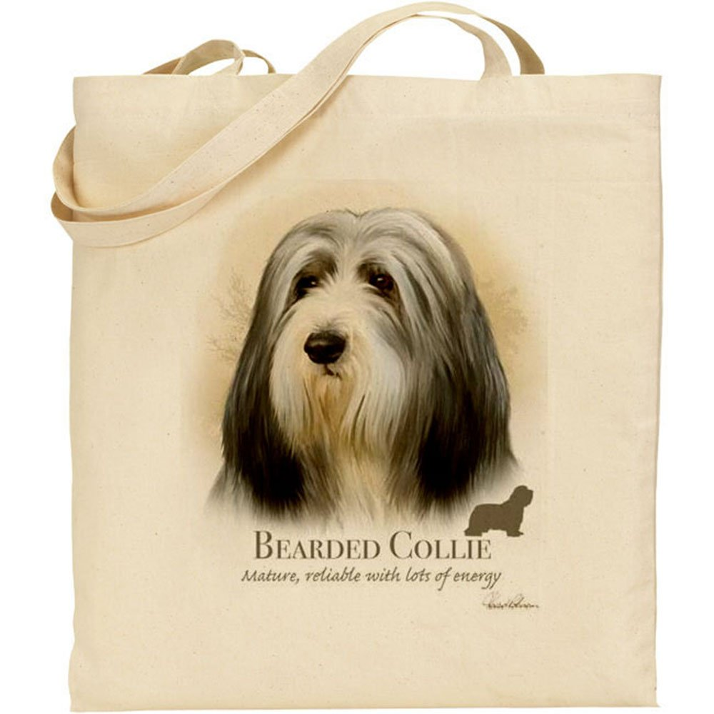 Howard Robinson Bearded Collie Dog Cotton Natural Bag