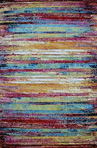 014 ALFOMBRA PEQUEÑA DE COLORES | ALFOMBRA MODERNA | ALFOMBRA DE HABITACIÓN - ALFOMBRA JUVENIL - Tamaño: 67 x 130cm