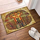 EdCott Africa Decor Egyptian Vellum Avatar Bath Rug Non-Slip Floor Entryways Outdoor Indoor Front Door Mat,60x40cm Bath Mat Bathroom Rugs...