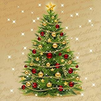Susy Card 11383890de Navidad Servilleta, impreso en papel, 3capas, 20unidades, diseño: Christmas tree, 33x 33cm