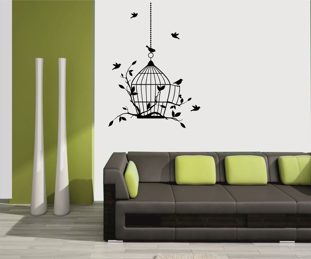 meSleep Birds Design Black Wall Sticker Amazonin Home Kitchen