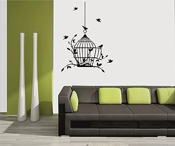 meSleep Birds Design Black Wall Sticker Amazonin Home Kitchen