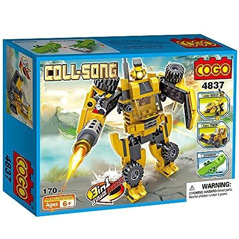 COGO 4837 Creator 3 in 1 COLL-SONG Boys Block Brick toys Building Bricks Blocks Construction Robot Advent Calendar Christmas Gift Birthday Gift For boys Playset 170 Pieces