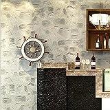 HAIYUANNAN Papel Pintado PVC Retro 3D Imitación Textura de Piedra Papel Pintado Dormitorio Decorativo TV Pared Sala de Estar Bar Tienda de Ropa Papel Pintado -53cm (W) * 10m (L), 3