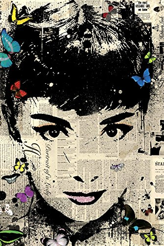Faim Posters Italian Paper Poster Of Legend Audrey Hepburn On Paper - Frameless, 18x12 Inch  available at amazon for Rs.199