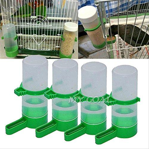 BigFamily 4 StückFutterautomatfür Budgie Lovebirds Aviary CageVogel Haustier TrinkerFlasche mit Clip