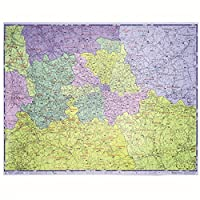OfficeForce Large Laminated Double Sided A-Z Postcode Map of Greater London Emission & Congestion - With FREE OfficeForce Jotter Pad (see inset) - Search: B00XHUFPCS for Map Fixing Kit & Pins
