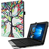 Infiland Odys Fusion Win 12 Pro 2in1 Case Cover, Folio PU Leather Stand Case Cover for Odys Fusion Win 12 Pro 2in1 29,5 cm (11,6 Zoll) Tablet-PC(with Auto Wake/Sleep Feature)(Happy Tree)