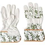 Gants de Jardinage Femme en Cuir Souple Gants de Jardin Rosiers Résistants aux Épines & Ronces Gants de Travail Confortable R