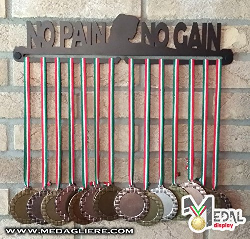 Sport Medaillen Anzeige - Medaille Wand - Medal display (NO PAIN NO GAIN woman design)
