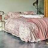 PiP Studio Bettwäsche Jaipur Flower Pink Blumen Vögel Perkal 155x220 cm (80x80 cm)