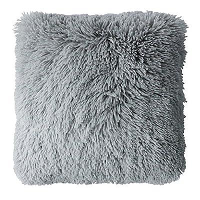 Couleur Montagne 40 x 40 cm Cushion Deco Imitation Fourrure Marmotte, Anthracite_Parent