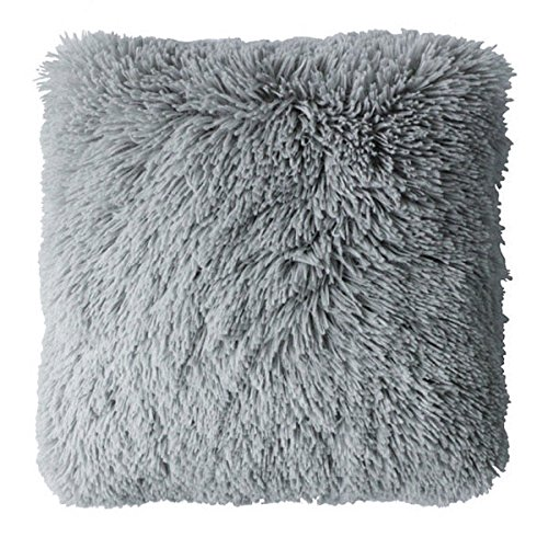 Couleur Montagne 3006245, Cushion Compresses, 40 X 40 Cm, Marmotte, Mock Fur, Grey