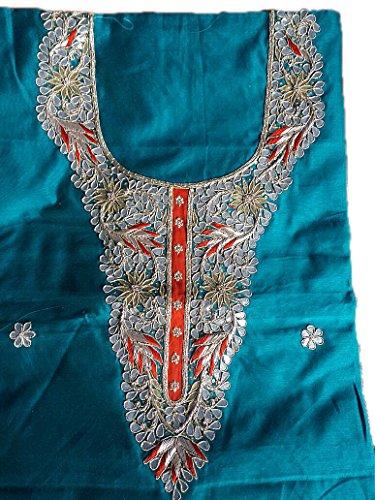 Jaipuri Rajasthani Handwork Chanderi cotton Kurti With With Heavy Gota Patti Work...