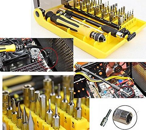 5en 1JACKLY Magnetic Precision TORX Screw Driver Set mobile phone Repair Tool Kit Housse Outils feinmechaniker Kit d'outils de précision pour utilisation professionnelle,