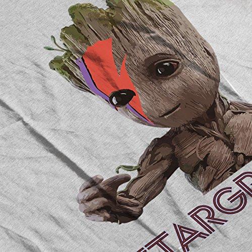 Guardians Of The Galaxy Ziggy Stargroot Baby Groot Men's Vest Heather Grey