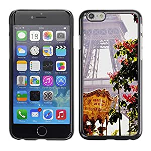 Omega Covers - Snap on Hard Back Case Cover Shell FOR Apple Iphone 6 Plus / 6S Plus ( 5.5 ) - Eifel Tower Spring Fair France
