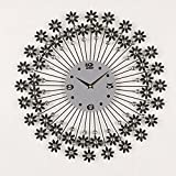 SUNQIAN-Decorative wall clocks clocks, silent circle art wall charts,Black