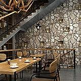 3D pierre brique papier peint salon fond imperméable PVC vinyle mur de papier...