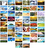 Edition Seidel Set 100 Premium Postkarten Landschaften (2x50 Karten) Natur Meer Berge Wälder Täler Karten Postkarte