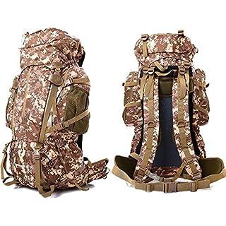 akldigital 80L+5L Large Waterproof Rucksack Unisex Outdoor Camping Hiking Trekking Travel Backpack Oxford Fabric Bag (camo D)