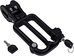 Starvin Premium Quality Universal W Shaped Helmet Lock for Bikes and Scooty    Black    P-19