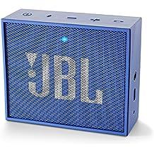 JBL Go JBLGOBLUE Diffusore Bluetooth Portatile, Ricaricabile, Ingresso Aux-In, Vivavoce, Compatibilità Smartphone/Tablet e Dispositivo MP3, Blu